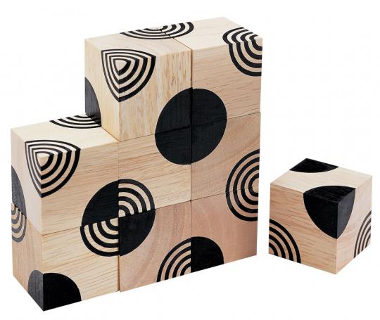 3 D Holzwürfel.