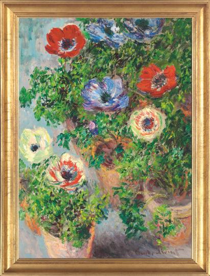 Anemonen in einer Vase. Claude Monet (1840-1926).