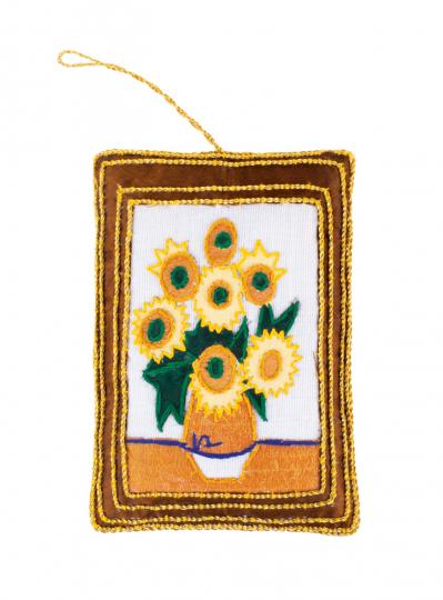 Anhänger Zarikunst »Vincent van Gogh Sonnenblumen«.
