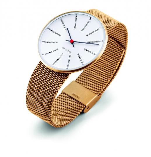 Armbanduhr für Herren »Bankers«, goldfarben.