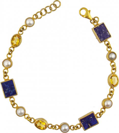 Armband »Vermeer« mit Halbedelsteinen.
