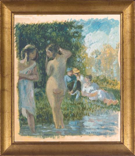 Badende. Camille Pissarro (1830-1903).