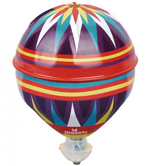 Ballonkreisel mit Schwungradantrieb.