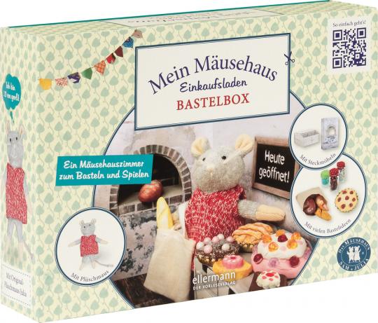 Bastelbox. Mein Mäusehaus-Einkaufsladen. Ein Mäuseladen zum Basteln und Spielen.