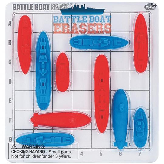 Battle Boat Erasers. Schiffe versenken.