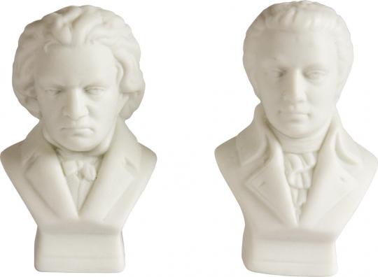 Beethoven & Mozart zerstreut Salz- & Pfefferstreuer im Set.