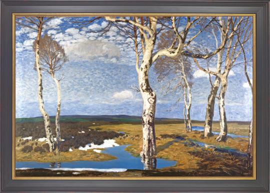 Birken in Worpswede. Fritz Overbeck (1869-1909).