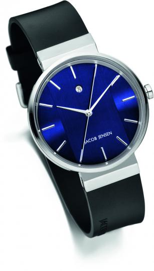 Blaue Jacob Jensen Uhr »New Shiny Series«, blau.