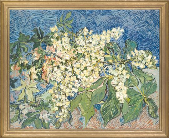 Blühender Kastanienzweig. Vincent van Gogh (1853-1890).