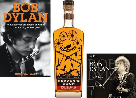 Bob Dylan Fan-Paket. Heaven's Door Bourbon Whisky, The Album - 2 Best of CDs