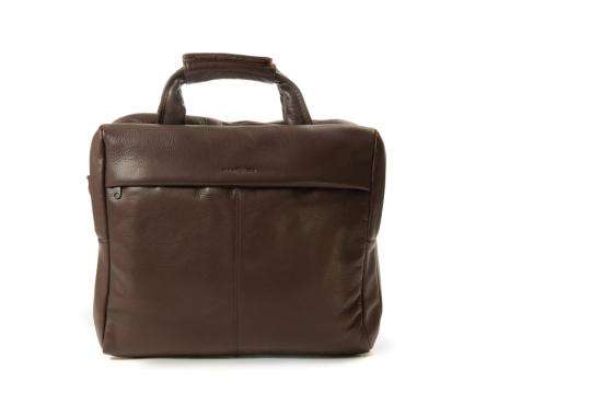Braune Businesstasche aus Rindleder.