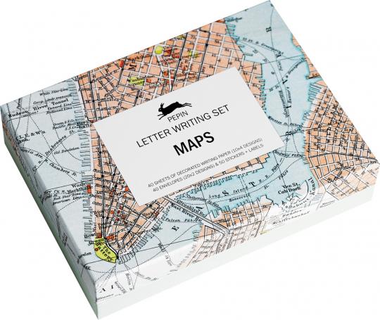 Briefpapier Set »Landkarten«.