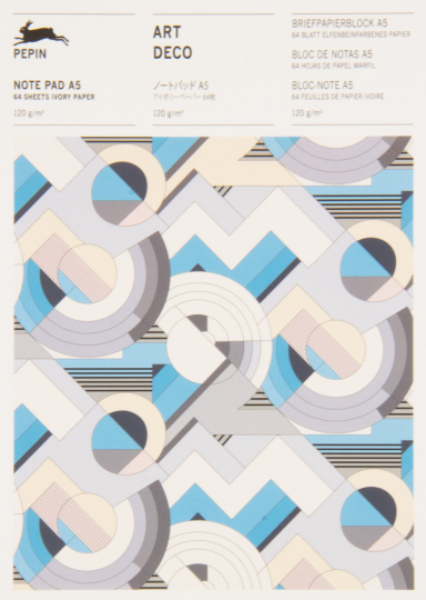 Briefpapierblock »Art déco«. DIN A5.