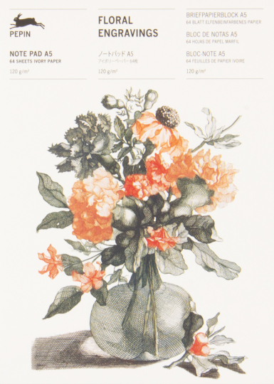Briefpapierblock »Florale Gravuren«. DIN A5.