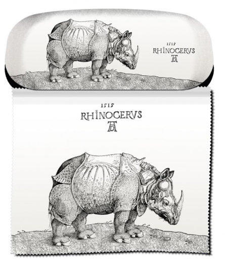 Brillenetui Albrecht Dürer »Rhinoceros«.