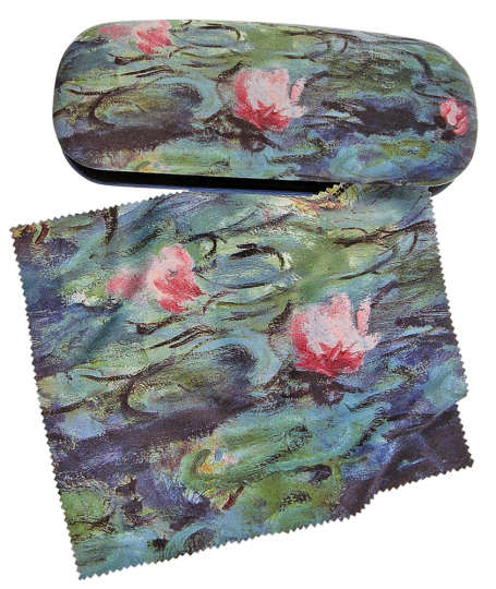 Brillenetui Claude Monet »Seerosen«.