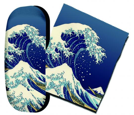 Brillenetui Katsushika Hokusai »Die große Welle«.