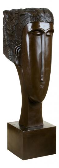 Bronzebüste Amedeo Modigliani »Frauenkopf«, 1912.