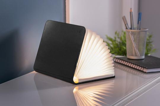 Buch als Lampe, groß, Leder-Edition.
