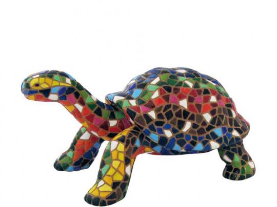 Bunte Schildkröte aus Mosaik.