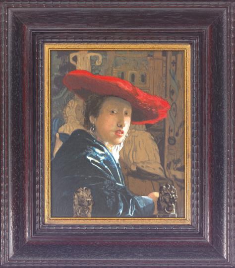 Dame mit rotem Hut. Jan Vermeer van Delft (1632-1675).