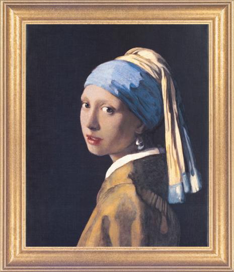 Das Mädchen mit dem Perlenohrgehänge. Jan Vermeer van Delft (1632-1675).