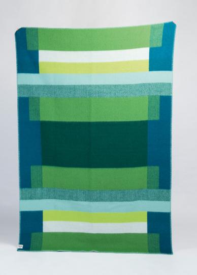 Decke »Mikkel grün«. Vom Bauhaus inspiriert.