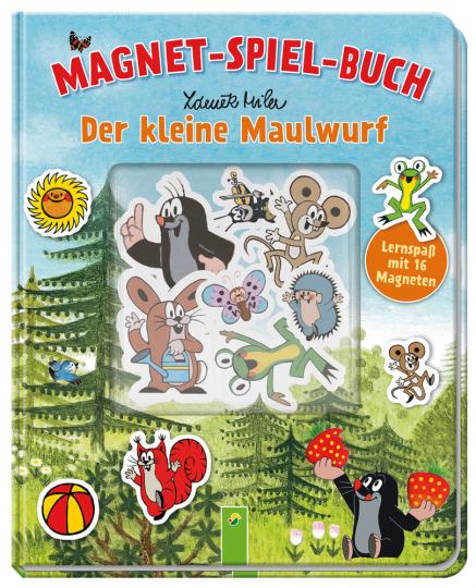 Der kleine Maulwurf. Magnet-Spiel-Buch. Lernspaß mit 16 Magneten.