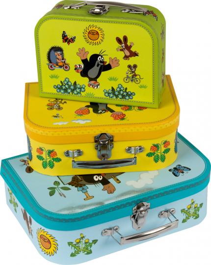 Der kleine Maulwurf. Drei Kinderkoffer mit wunderschönen Motiven.