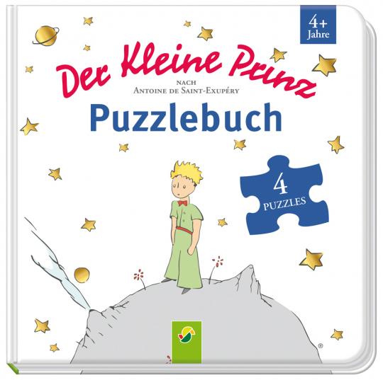 Der kleine Prinz Puzzlebuch. Mit 4 Puzzles zu je 12 Teilen.