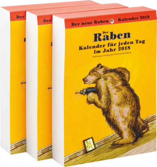 Der Rabenkalender für das Jahr 2018. 3er-Paket.