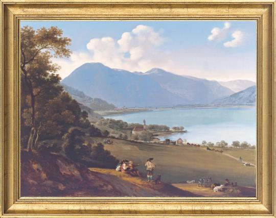 Der Tegernsee. Johann Georg von Dillis (1759-1841).