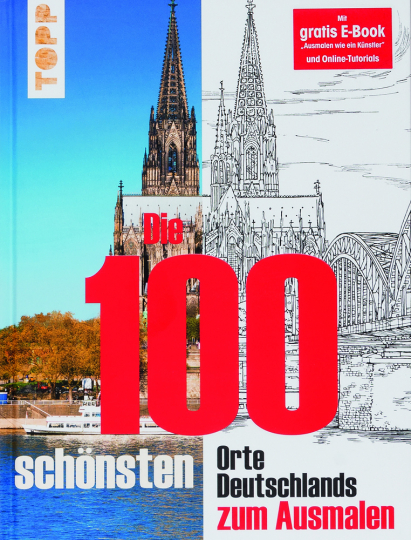 Die 100 schönsten Orte Deutschlands zum Ausmalen.