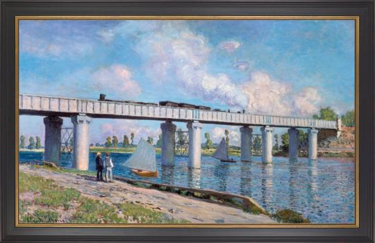 Die Eisenbahnbrücke von Argenteuil. Claude Monet (1840-1926).