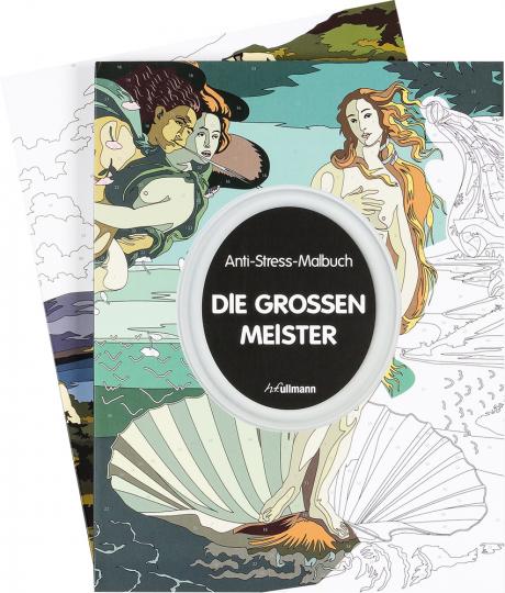 Die großen Meister. Das Set. 2 Anti-Stress-Malbücher für Erwachsene.