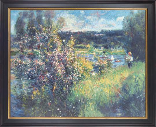 Die Seine bei Chatou. Auguste Renoir (1841-1919).