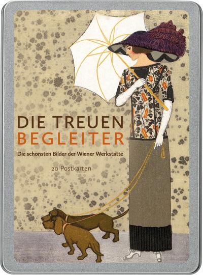 Die treuen Begleiter. Die schönsten Bilder der Wiener Werkstätte. Postkarten-Set.