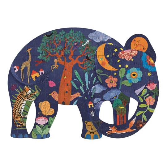 Djeco-Puzzle »Elefant«, 62 x 46 cm.