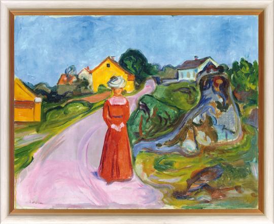 Dorfstraße in Åsgårdstrand. Edvard Munch (1863 - 1944).