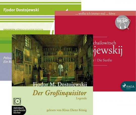 Dostojewski Hörbücher Set. 3 CDs.