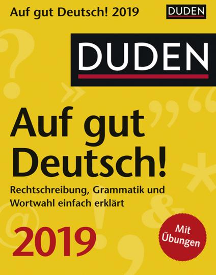 Duden Auf gut Deutsch! Kalender 2019.