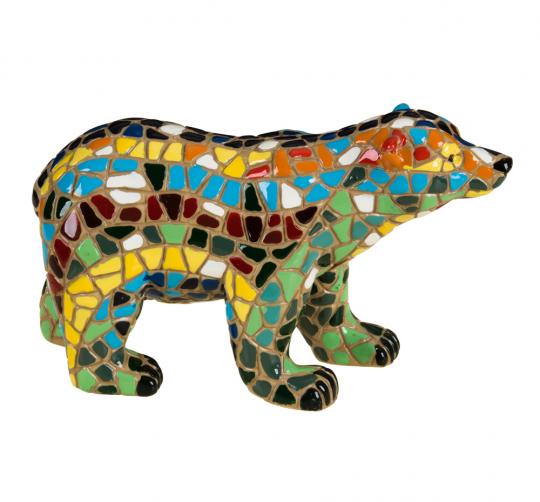 Eisbär aus Mosaik.