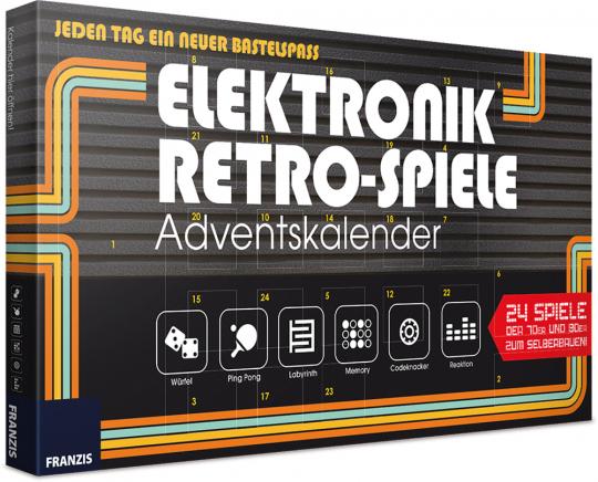 Elektronik Retro-Spiele Adventskalender. Bastelset.