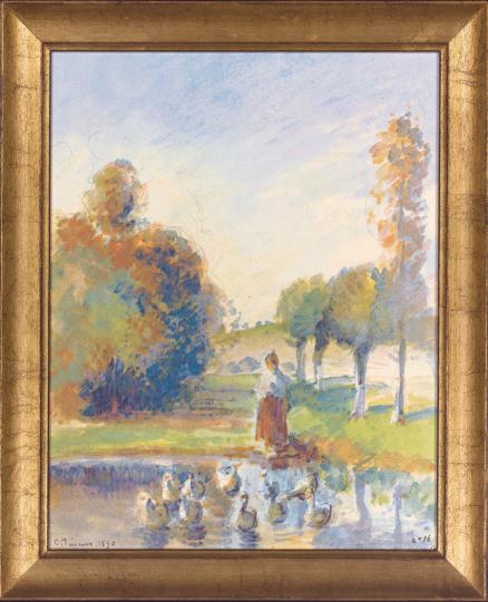 Ententeich. Camille Pissarro (1830-1903).