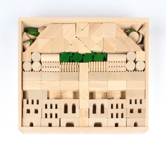 Baukasten »Architektur«, 345 Teile.