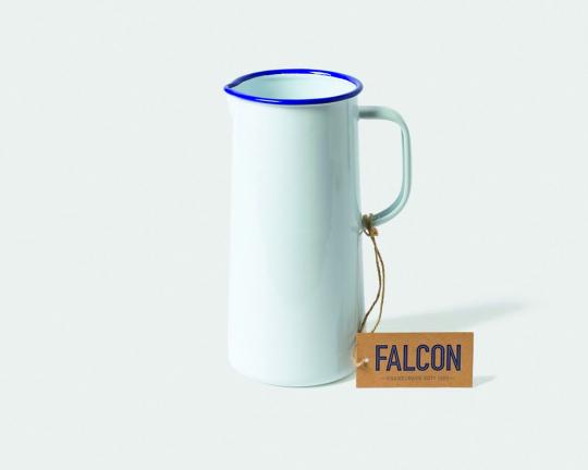 Falcon Emaille-Karaffe, eisweiß/blau.