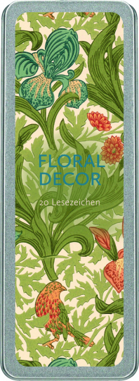 Floral Decor. Lesezeichen in Metallbox.