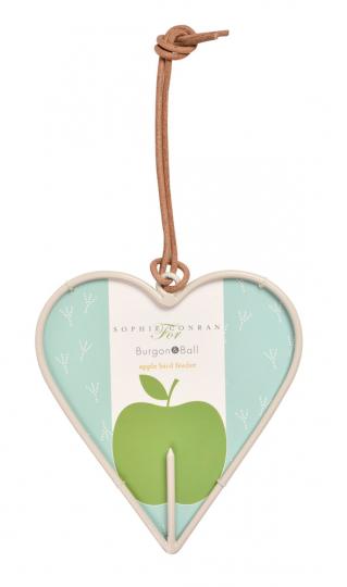 Futterstation Apfel für Vögel, Herz.