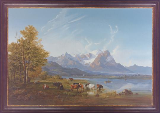 Garmischer Tal. Heinrich Bürkel (1802-1869).