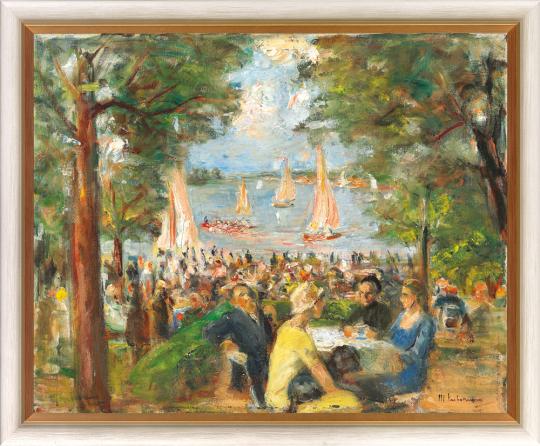Gartenlokal an der Havel. Max Liebermann (1847-1935).